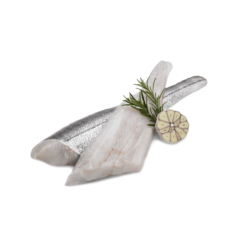 Long hake fillet, with skin, without glaze (60/200)