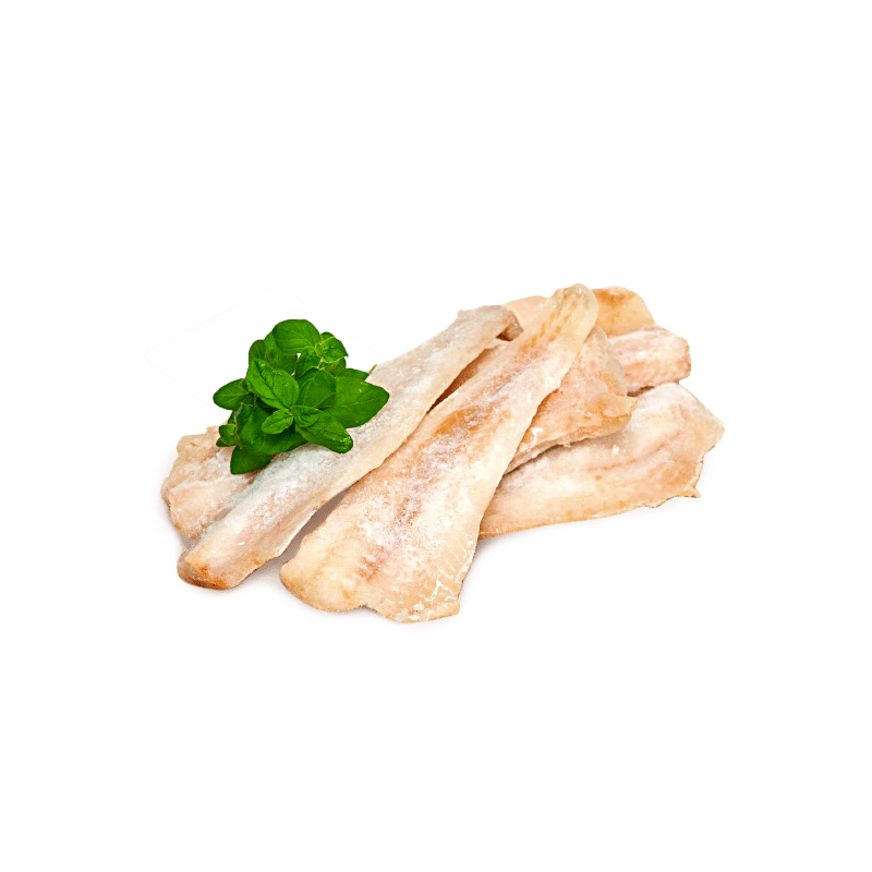 Skinless cod fillet, without additives