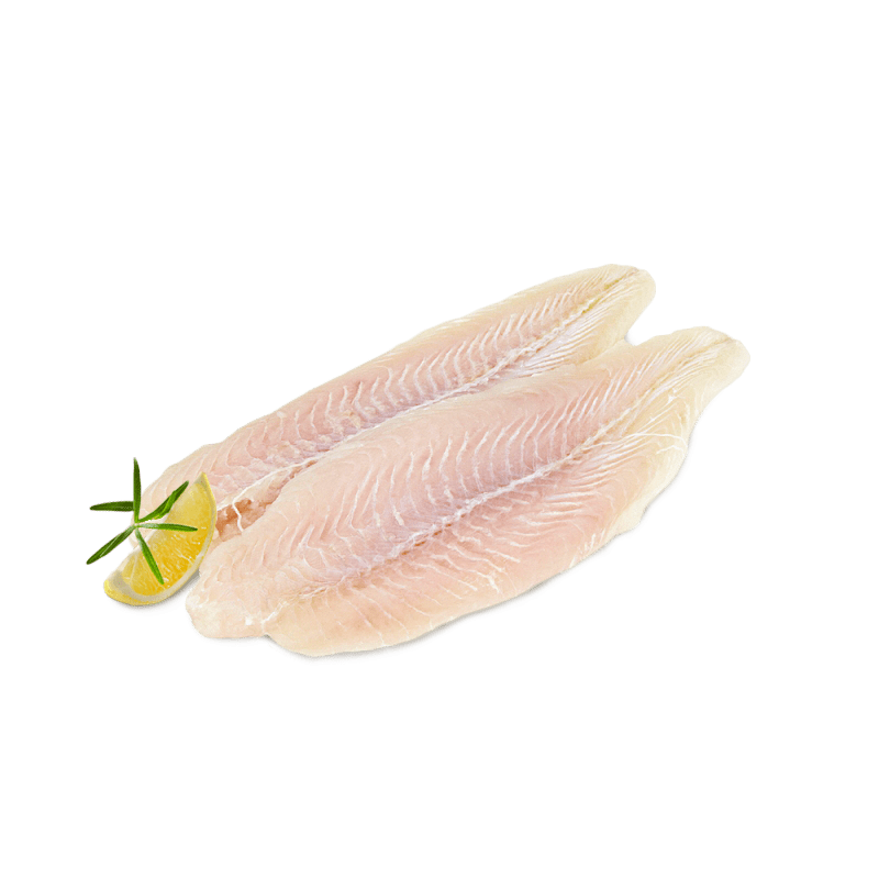 Skinless fillet of small-eyed pangasius, white (170/220)