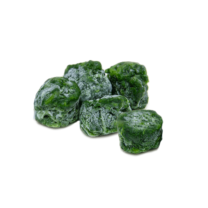 Leaf spinach portions