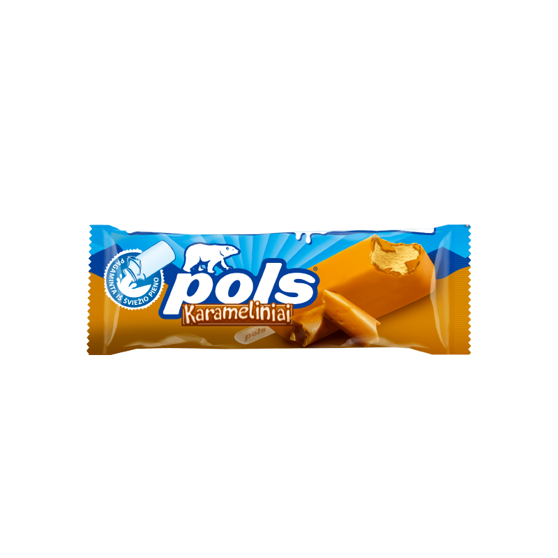 POLS caramel ice-cream with caramel coating