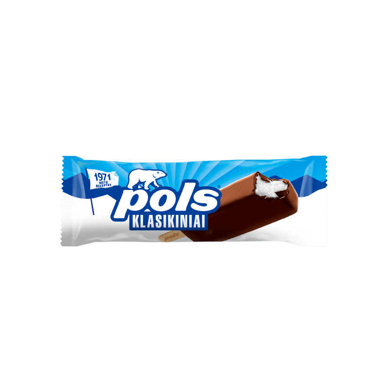 POLS Vanilla ice cream in coating.