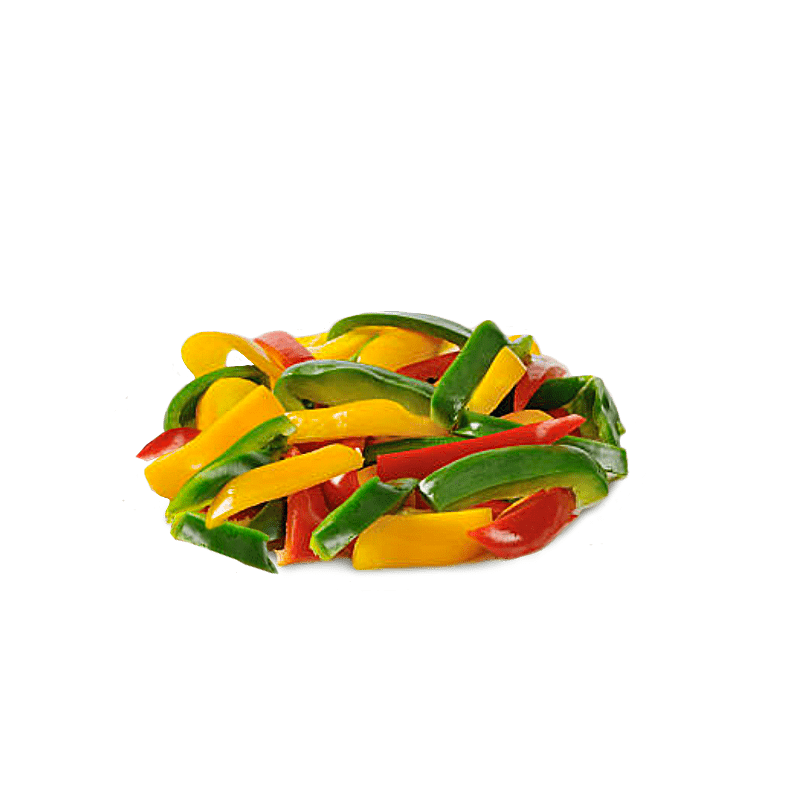 Set of 3 bell peppers (yellow, green, red)