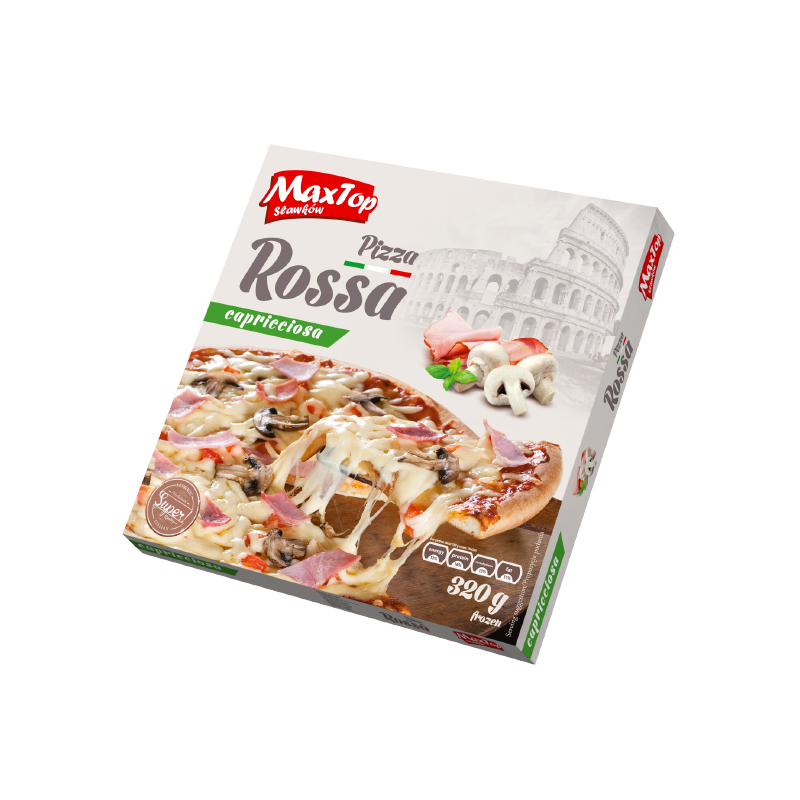"""Pizza """"Rossa"""" with ham and mushrooms"""