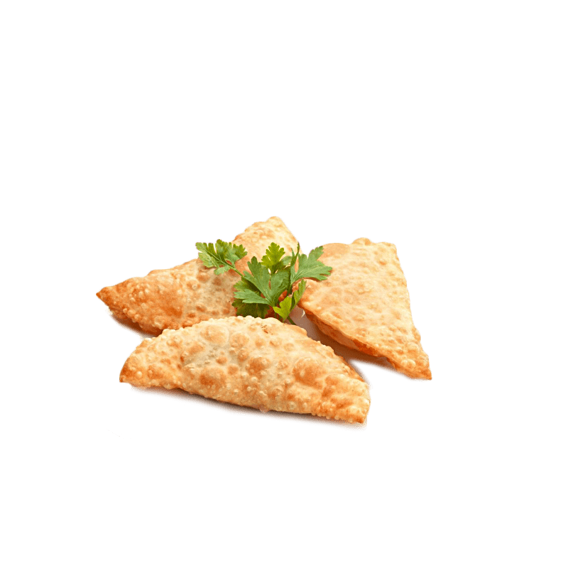 Mini deep-fried turnover with a filling of minced meat