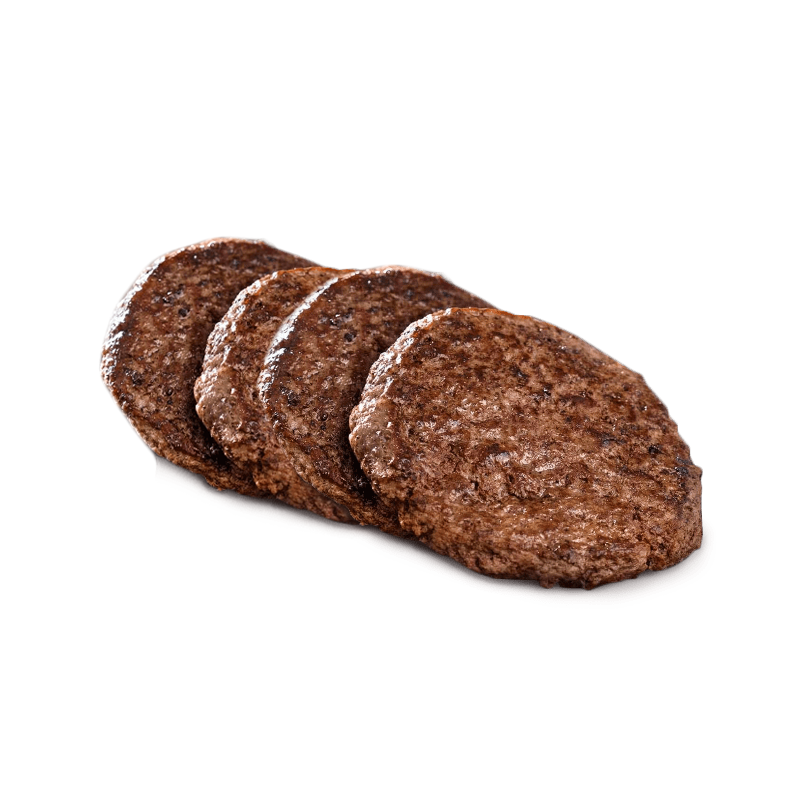 Beef burgers, without additives